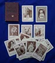 Antique cards game Famous Paintings by U.S.P.C. circa 1900.